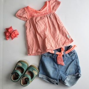 Polo jean short outfit